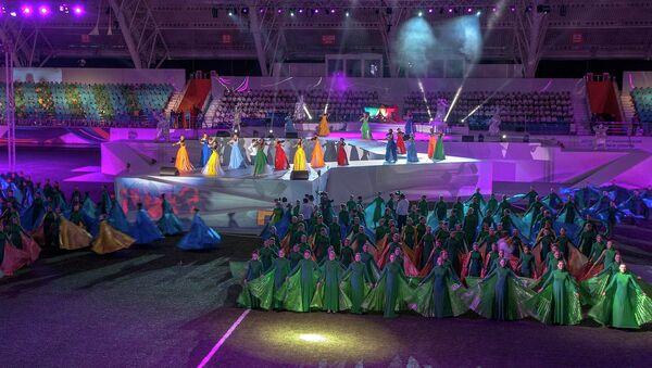 Открытие Дельфийских игр в Новосибирске, архивное фото