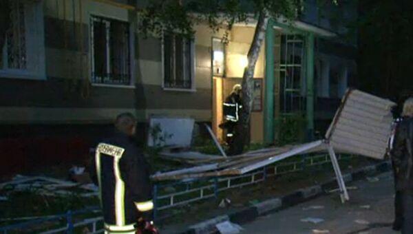 Последствия взрыва газа в доме на юго-западе Москвы