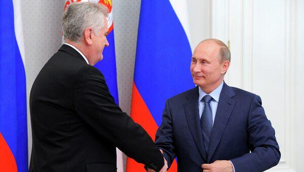 Встреча В.Путина с Т.Николичем