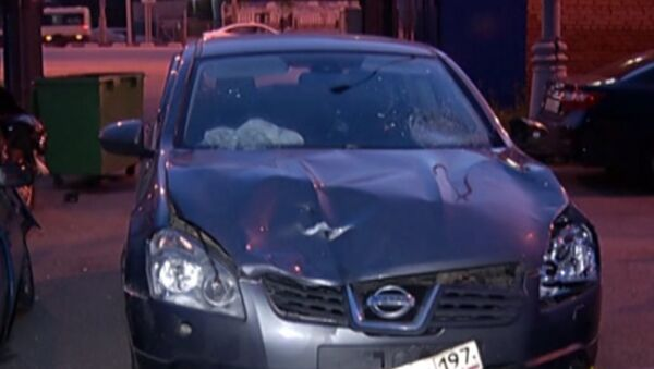 Автомобиль водителя, сбившего велосипедистов на ВВЦ