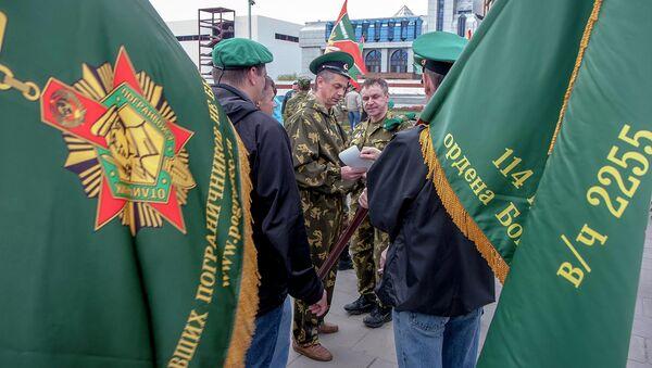 Боевой расчет ветеранов-пограничников. Архив
