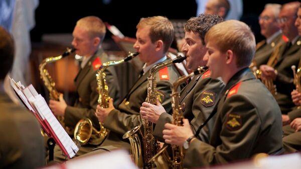 Репетиция участников фестиваля военных оркестров в Хабаровске. Архивное фото