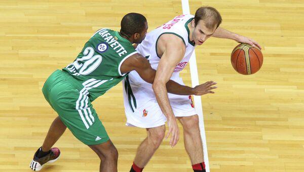 Игровой момент матча Локомотив-Кубань-Жальгирис
