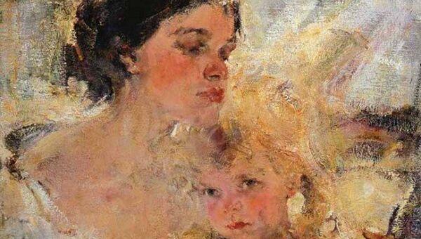 Николай Фешин Миссис Фешина с дочерью, 1922