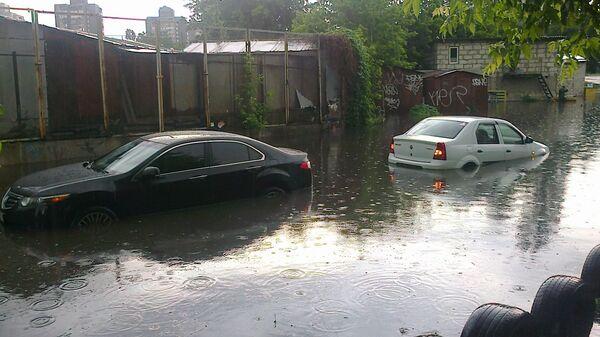 Потоп после дождя в Киеве