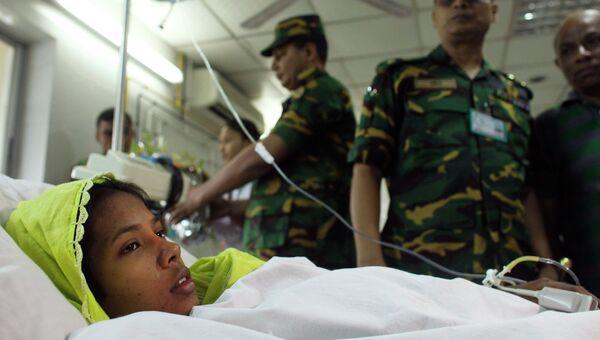 Решма Бегум, найденная под завалами в Дакке, Бангладеш