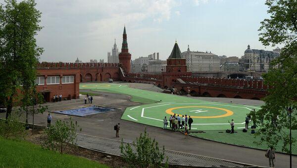 Вертолетная площадка в Кремле. Архив