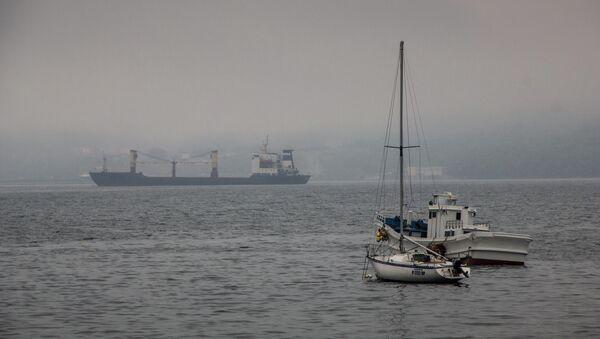 Акватория Владивостока в тумане. Архивное фото