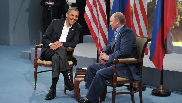 Владимир Путин и Барак Обама. Архивное фото