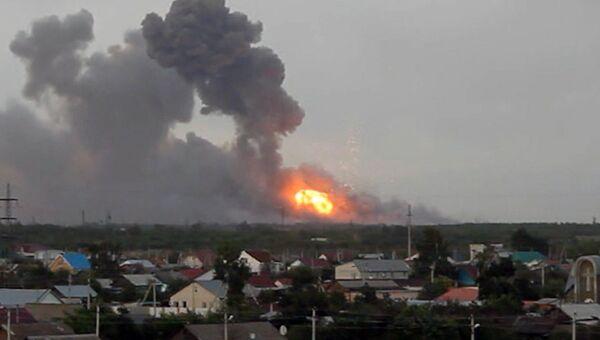 Несколько мощных взрывов прогремели в Самарской области