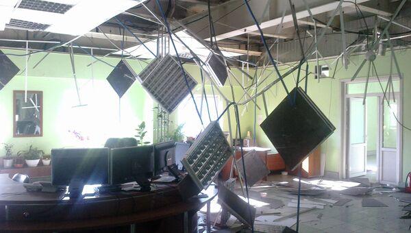 Последствия землетрясения на предприятии в поселке Бачатском