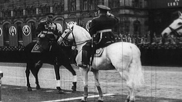 Исторический Парад Победы на Красной площади в Москве 24 июня 1945 года