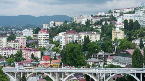 Вид на район Cветлана в Сочи