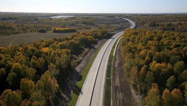 Дорога в Новосибирской области