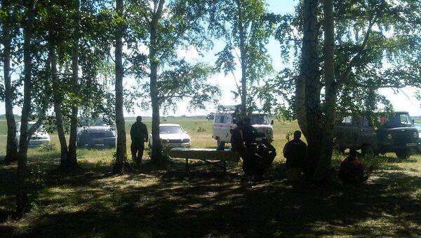 Штаб поисковиков в Каргатском районе Новосибирской области