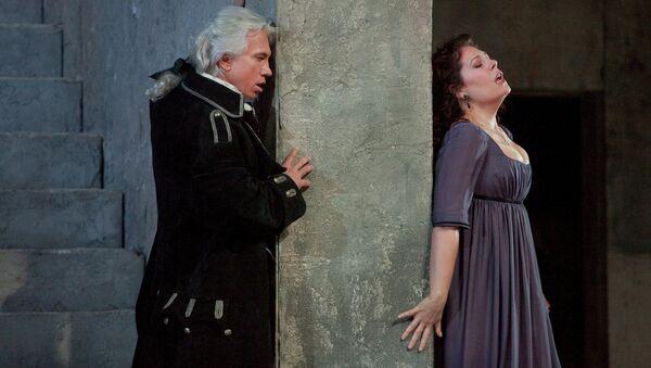 Сцена из оперы Трубадур, The Metropolitan opera