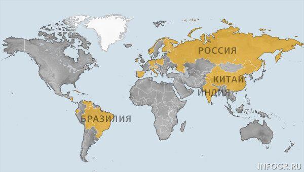Список стран, где попросил политубежище Эдвард Сноуден