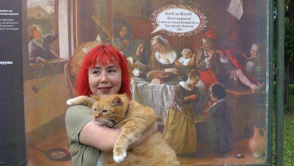 Знаменитый интернет-мем кот Заратустра открыл выставку стрит-арта