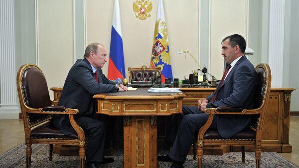 В.Путин встретился с Ю-Б.Евкуровым