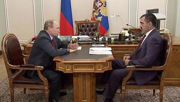 Евкуров попросил Путина о досрочной отставке для участия в выборах