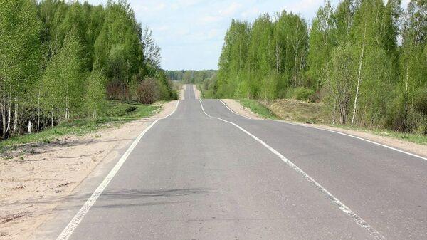 Дорога в Ленинградской области