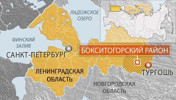 Ленинградская область, Тургошь. Карта