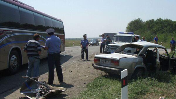 ДТП с участием автобуса в Ростовской области