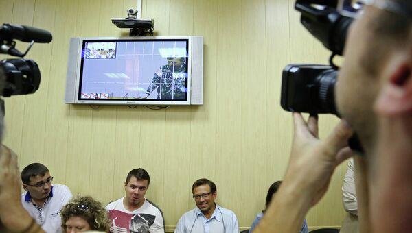 Видеотрансляция из зала ярославского областного суда, где проходит рассмотрение жалобы на арест мэра Ярославля Евгения Урлашова