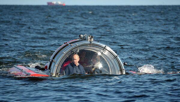 Путин побывал на дне Финского залива и ответил на вопрос о Сноудене