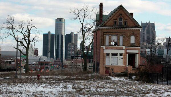 Заброшенные дома недалеко от центра Детройта