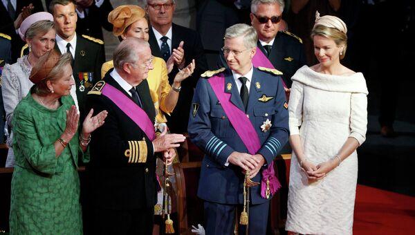 Король бельгийцев Альберт II и принц Филипп