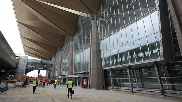 Строящийся терминал Пулково