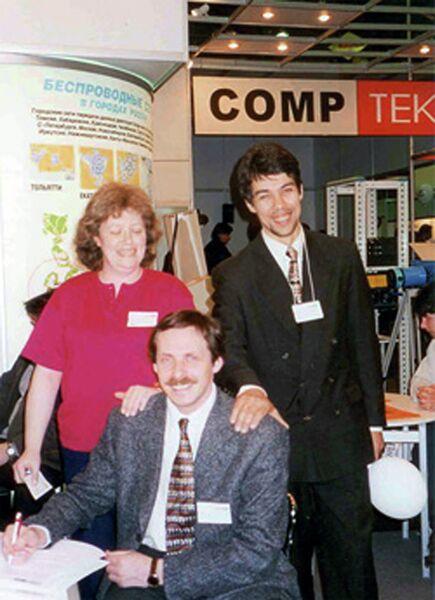 Один из основателей компании Яндекс Илья Сегалович (справа)