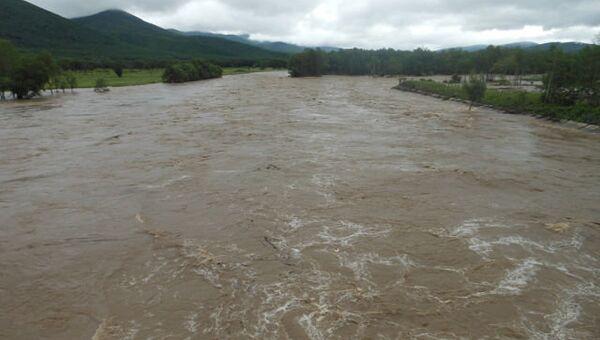 Наводнение в поселке Пластун в Приморье