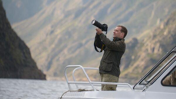 Премьер-министр РФ Д.Медведев на отдыхе в Республике Тыва