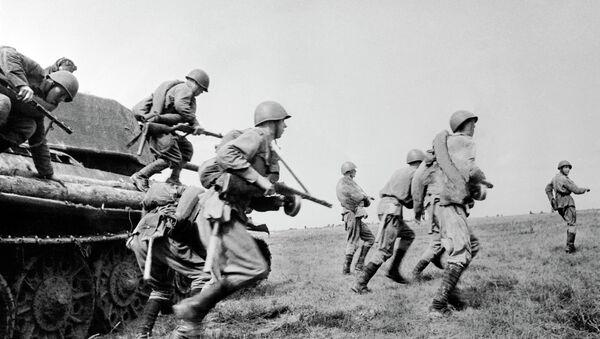 Курская дуга. Танковый десант. 1943 год. Архивное фото