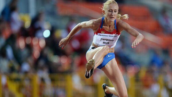 Юлия Зарипова во время соревнований по легкой атлетике на XXVII Всемирной летней Универсиаде 2013 в Казани. Архивное фото