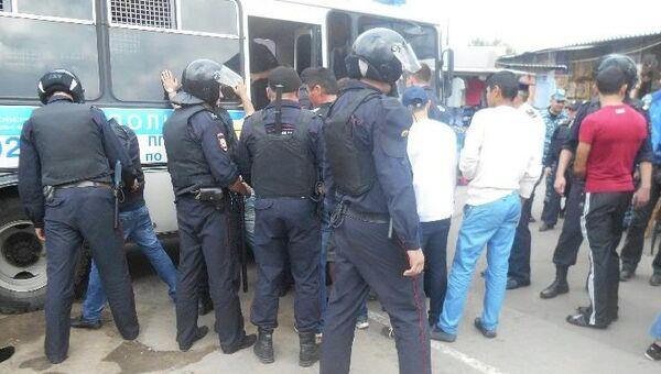 Задержание нелегальных мигрантов в Москве