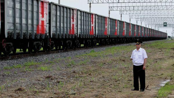 Первый грузовой поезд Махалино - Хуньчунь