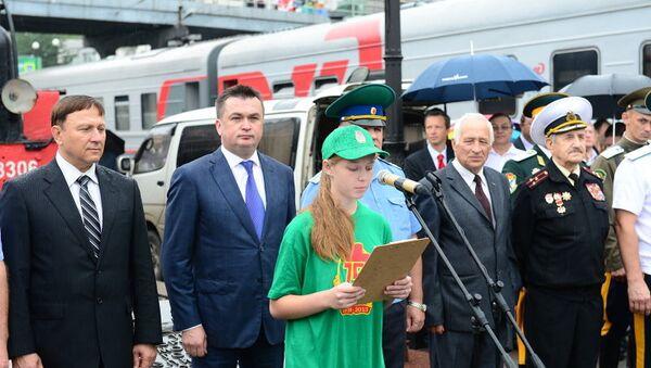 Проводы во Владивостока Эскорта памяти по местам Хасанских сражений