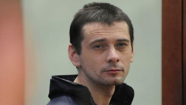 Сергей Помазун, обвиняемый в убийстве 6 человек, во время судебного заседания