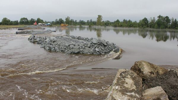 Облет территорий, пострадавших от паводка в Амурской области