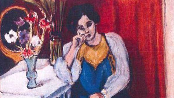 Анри Матисс. Читающая девочка в белом и желтом. 1919