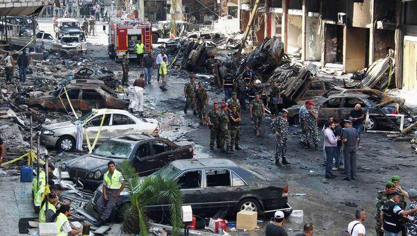 На месте взрыва в Бейруте. Архивное фото