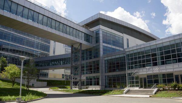 Здание кампуса ДВФУ на острове Русский во Владивостоке. Архивное фото