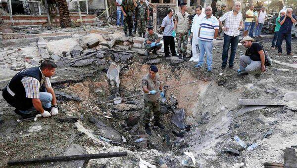 На месте взрыва в ливанского городе Триполи