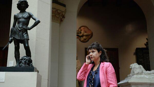 Директор государственного музея изобразительных искусств имени А.С.Пушкина Марина Лошак
