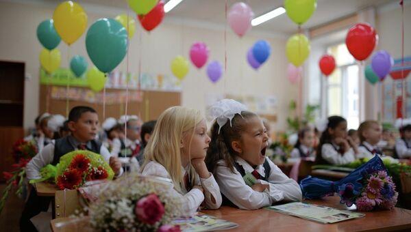 Школьные линейки в Новосибирске. архивное фото