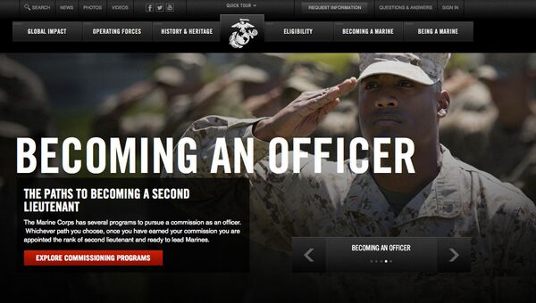 Скриншот сайта marines.com