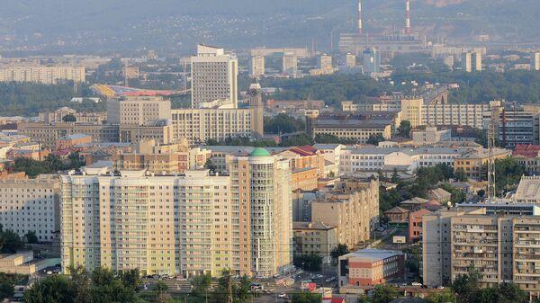 Вид на город Красноярск